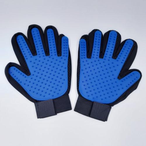 standaard vachverzorgingshandschoen blauw paar