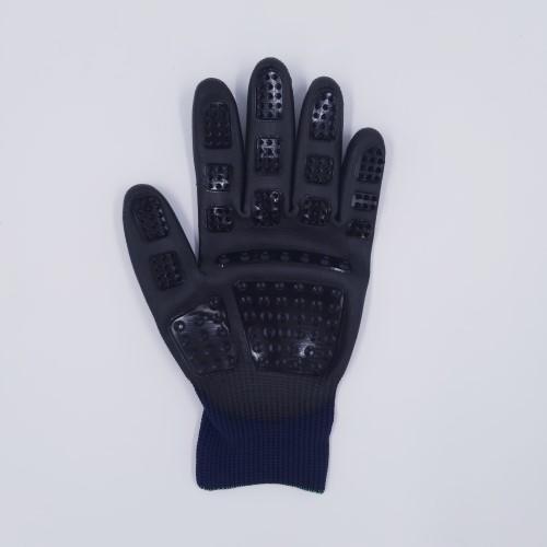 Handschoen donkerblauw vacht links