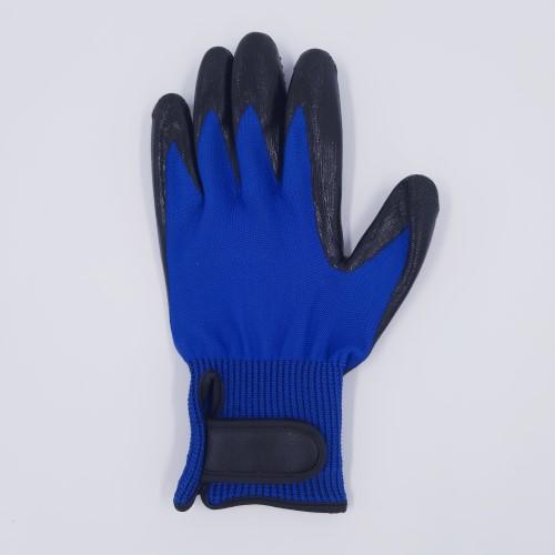 links luxe vachthandschoen lichtblauw rug