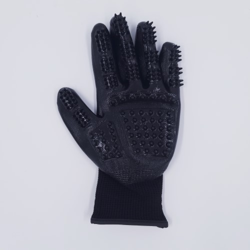 links vachthandschoen luxe zwart voorkant