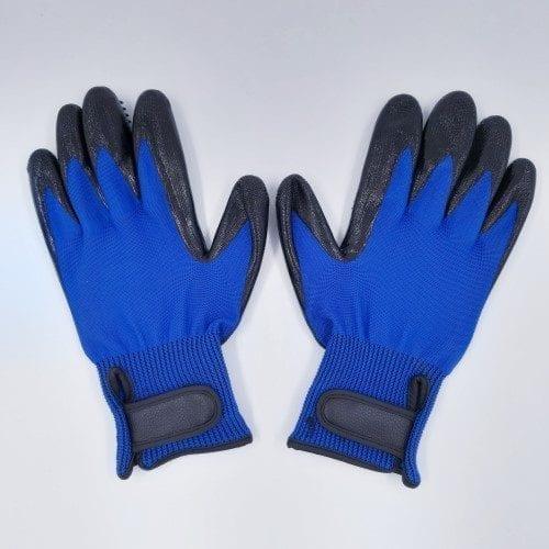 paar luxe vachthandschoen lichtblauw