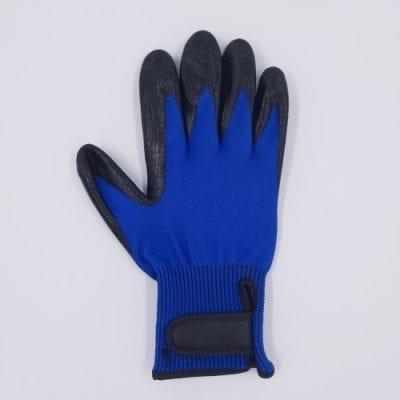 rechts luxe vachthandschoen lichtblauw