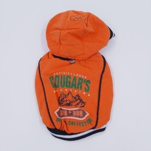Oranje honden- en katten jasje