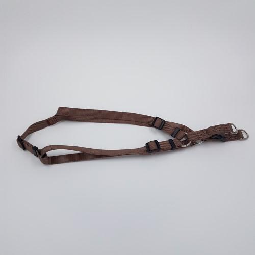 Bruine nylon harnas verstelbaar