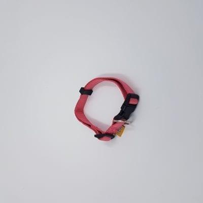 Nylon roze halsband