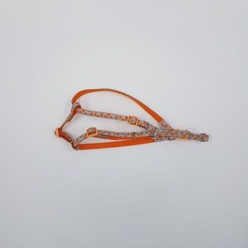 Oranjegrijs nylon reflecterend tuigje
