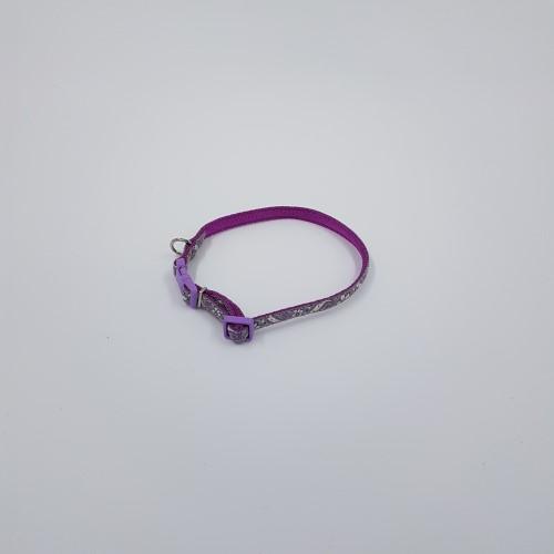 Paarsgrijs reflecterende en verstelbare halsbandv