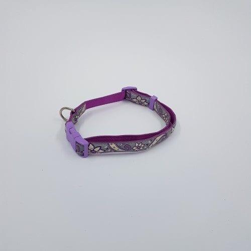 Paarsgrijs reflecterende verstelbare halsband