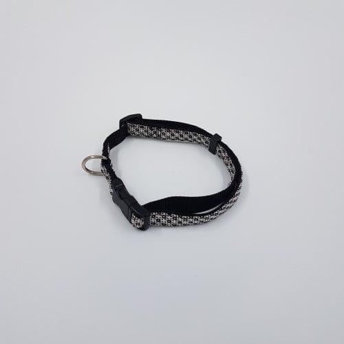 Zwart ruit nylon halsband