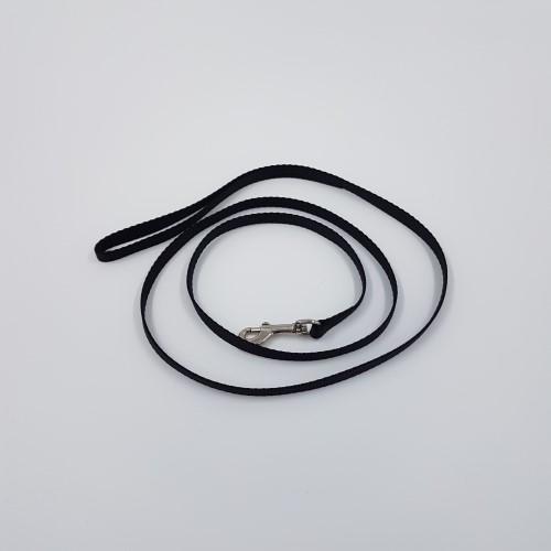 Zwarte nylon halsband