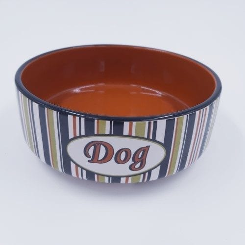 gestreepte voerbak ''Dog''