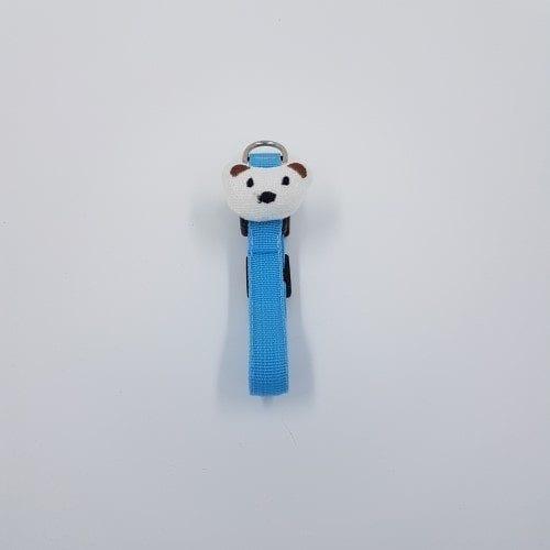 halsband lichtblauw met hondenkopje 2